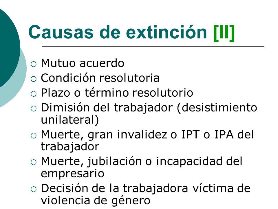 Causas de extinción [II]